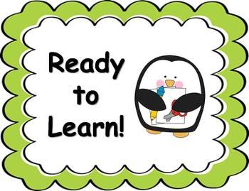 Behavior Clip Chart - Penguin Theme