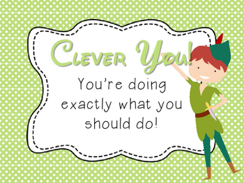 Behavior Chart - Peter Pan theme