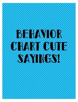 Behavior Chart Phrases