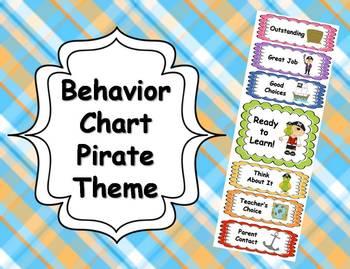 Behavior Clip Chart - Pirate Theme
