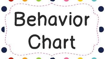 Behavior Chart Polka Dot