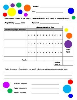 Behavior Chart - Polka Dot Theme