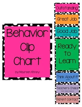Behavior Clip Chart Polka Dot Theme