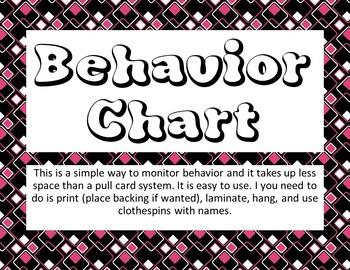 Behavior Chart Posters