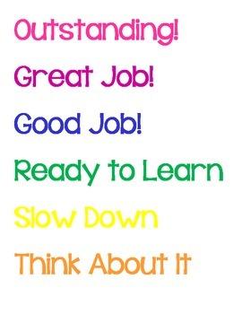 Behavior Chart Printouts