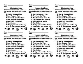 Behavior Chart Prizes