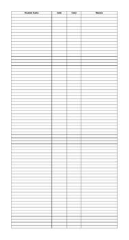 Behavior Chart Record