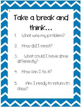 Behavior Chart Reminders