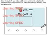 Behavior Chart Reward chart visual weekly special educatio