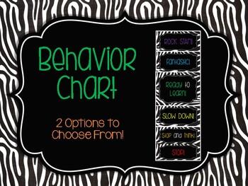 Behavior Chart: Rumble in the Jungle