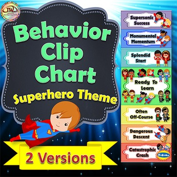 Behavior Charts / Clip Charts - SUPERHERO Themed - 2 Styles Included