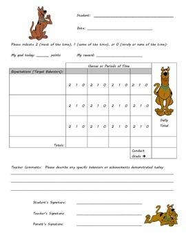 Behavior Chart -Scooby Theme