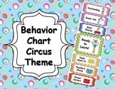 Behavior Clip Chart - Circus Theme