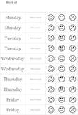 Behavior Chart Smiley Face