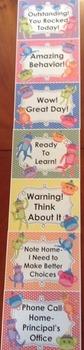 Behavior Chart-Sock Monkey Theme! Editable-7 Levels to encourage great behavior