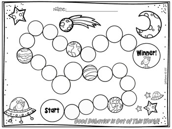 Behavior Chart- Space Theme