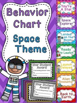 Space theme classroom behavior chart by miss giraffe tpt