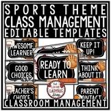 Sports Theme - Behavior Chart EDITABLE