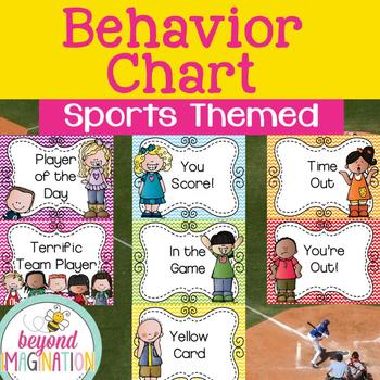 Behavior Clip Chart Sports Themed