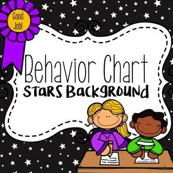 Behavior Chart Star Background