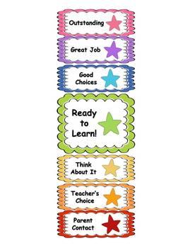 Behavior Clip Chart - Star Theme