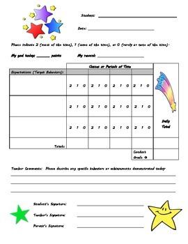 Behavior Chart - Star Theme
