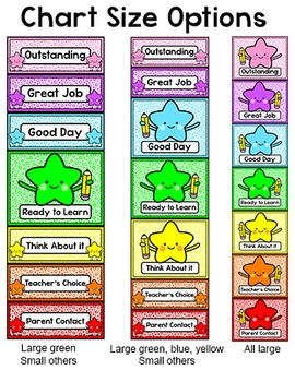 Behavior Chart - Star Theme Behavior Clip Chart