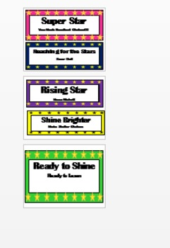 Behavior Chart Star Theme