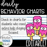Behavior Chart / Sticker Chart / Check in Check Out - Popsicles