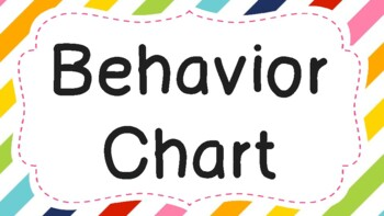 Behavior Chart Stripe Background