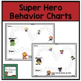 Individual Behavior Chart- Super Heroes