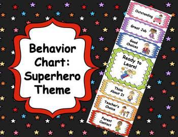 Behavior Clip Chart - Superhero Theme