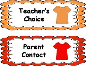 Behavior Clip Chart - T-Shirt Theme
