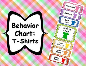 Behavior Clip Chart - T-Shirt Theme