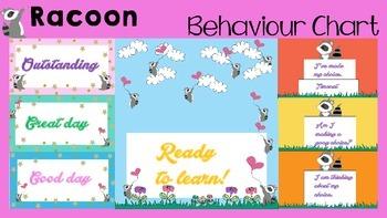 Behaviour / Behavior Chart -Themed Racoons