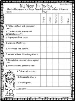 Behavior Chart & Tracking Tools