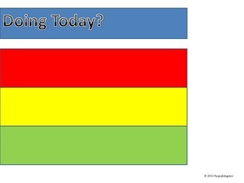 Behavior Chart - Traffic Light for Classroom Management