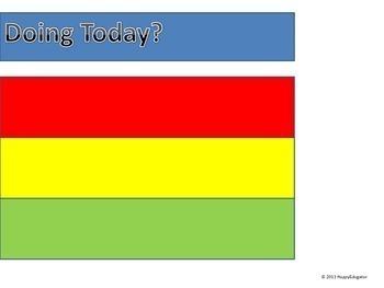 Behavior Chart - Traffic Light for Classroom Management