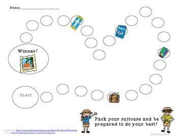 Behavior Chart- Travel Theme
