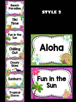Behavior Chart - Tropical Tiki Theme Behavior Clip Chart, Beach, Hawaii, Beach