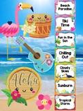 Behavior Chart - Tropical Tiki Theme Behavior Clip Chart, Beach, Hawaii, Beach