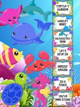 Behavior Chart - Under the Sea Behavior Clip Chart, Beach, Ocean Animals
