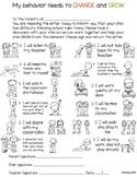 Behavior Chart (Visual Behavior Chart)