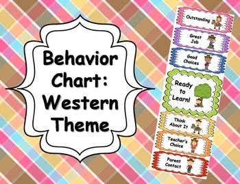 Behavior Clip Chart - Western Theme