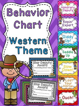 Cowboy and Cowgirl Behavior Chart