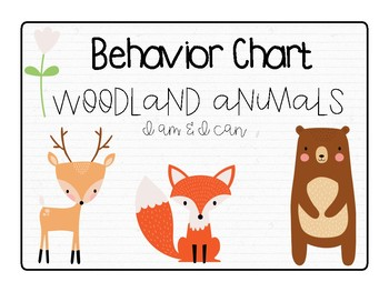 Behavior Chart: Woodland Animals