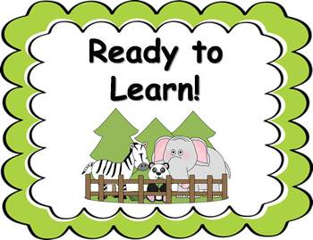 Behavior Clip Chart - Zoo Animals Theme