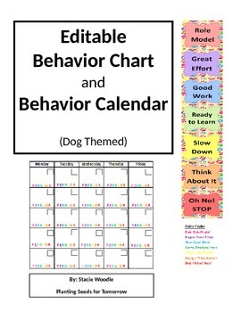 Behavior Chart and Calendar