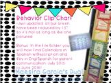 Behavior Chart and Calendars SPANISH