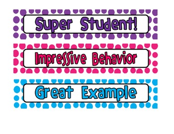 Behavior Chart and Incentive Bracelets